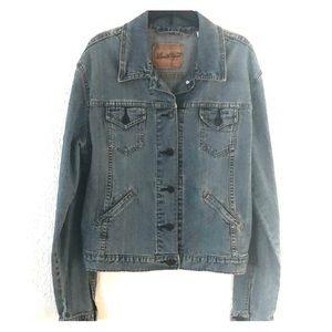 Levi Strauss Distressed blue Jean jacket